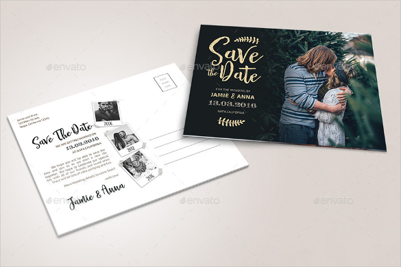 Free Save The Date Postcard Templates (6) | Professional And High