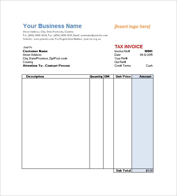 Stunning Hourly Service Invoice Template Sample : V m d.com