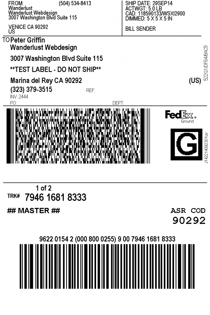 Print FedEx Shipping Labels   WooCommerce Plugin
