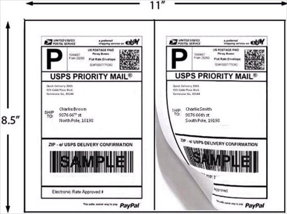 21+ Shipping Label Templates – Free Sample, Example Format