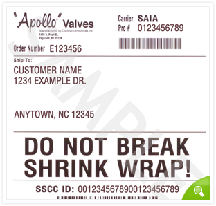 Shipping Labels :: apollovalves.com