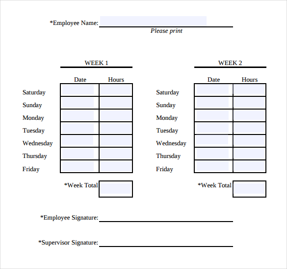 Simple Time Sheets 32 Simple Timesheet Templates Free Sample