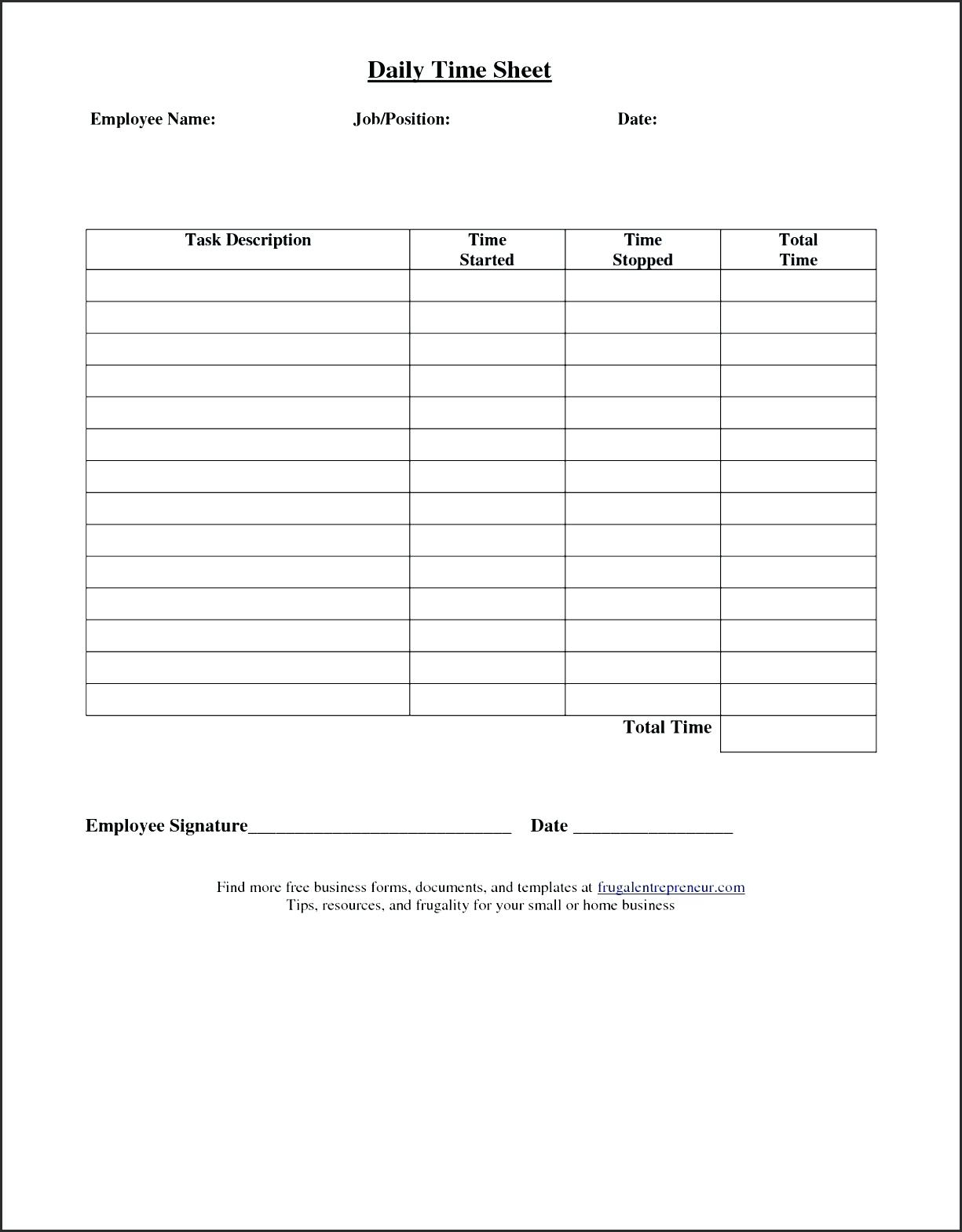 Simple Time Sheets To Print Weekly Timesheet Template Simple Time