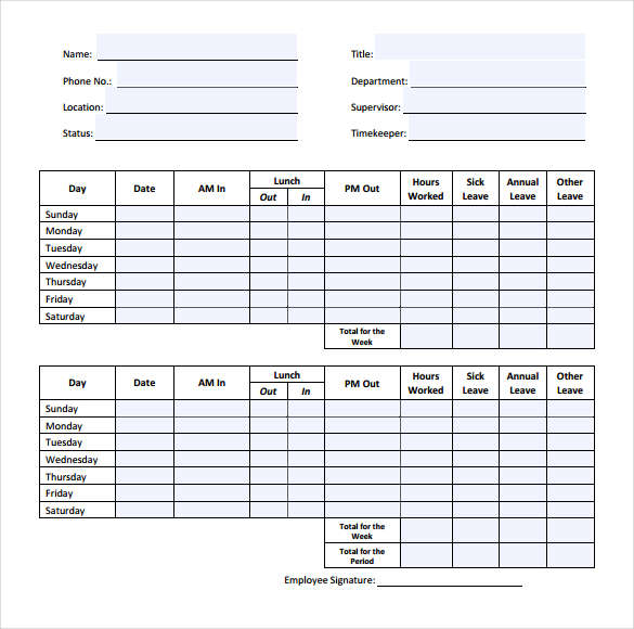 32+ Simple Timesheet Templates – Free Sample, Example Format