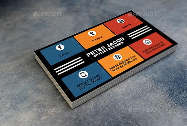 Social Media Business Cards Template | Top Soft Links