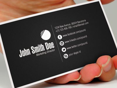 Business Cards With As Business Cards With Social Media Icons