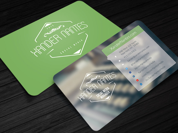 13+ Example of Social Media Business Card | Free & Premium Templates