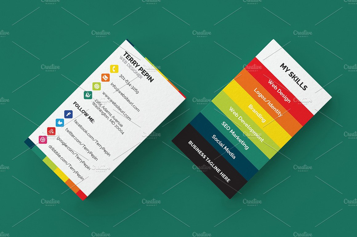 Social Media Business Card 61   Business Card Templates | Creative