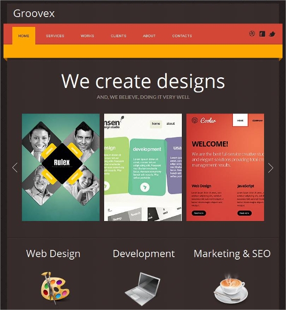 Social Media Website Template | zesloka.tk