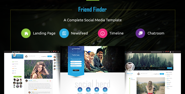 Friend Finder   Social Network HTML5 Template by thunder team