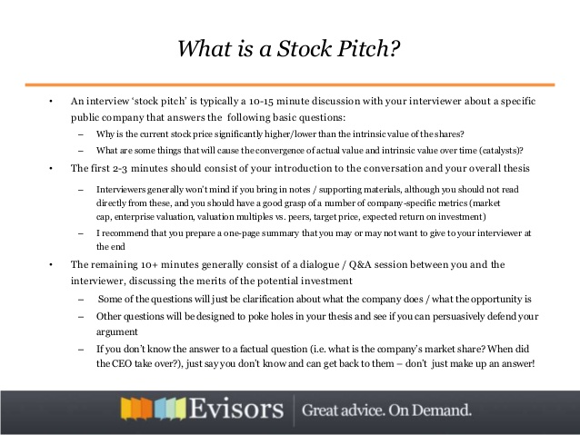 Stock Pitch Template | beneficialholdings.info