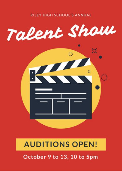 Customize 127+ Talent Show Flyer templates online   Canva