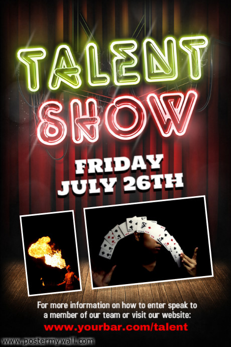 Flyer Templates For Talent Show Template PosterMyWall – Ianswer
