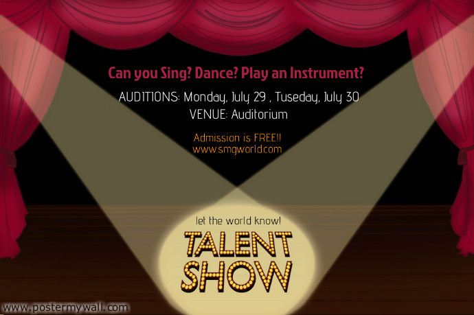 Talent Show Flyer Template | PosterMyWall