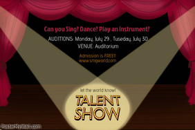Customizable Design Templates for Talent Show | PosterMyWall
