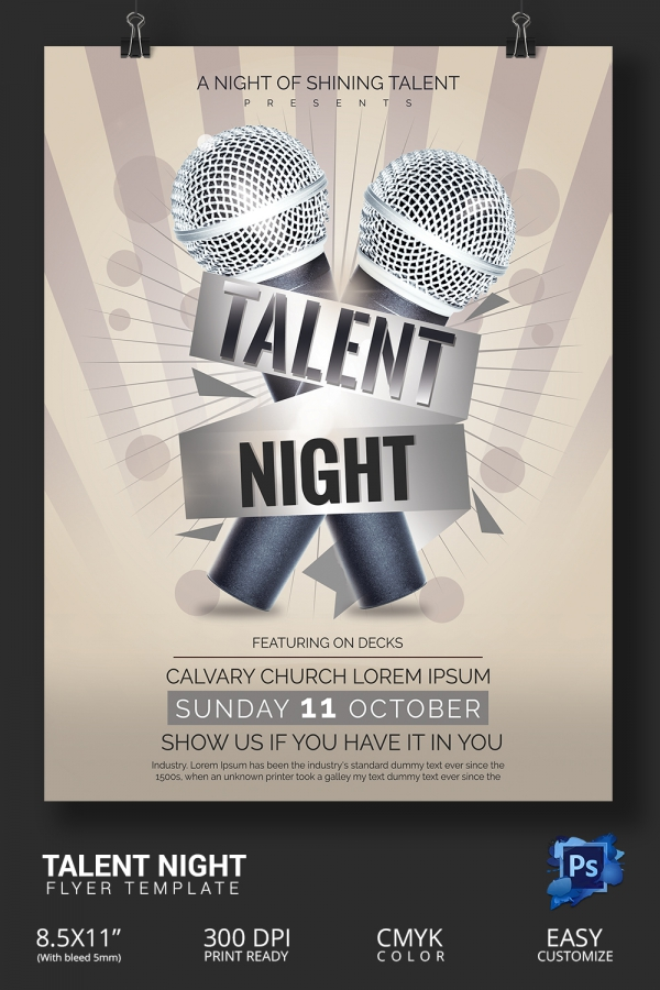 Talent Show Flyers Talent Show Flyer Templates Canva Valo Talent