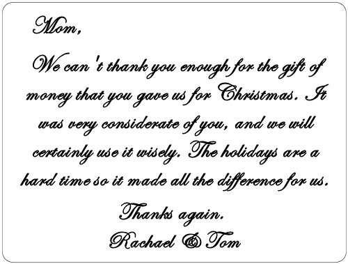 gift card thank you note   Manqal.hellenes.co