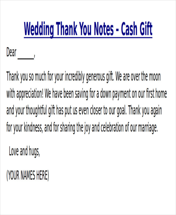 8+ Thank You Note For Money – Free Sample, Example, Format