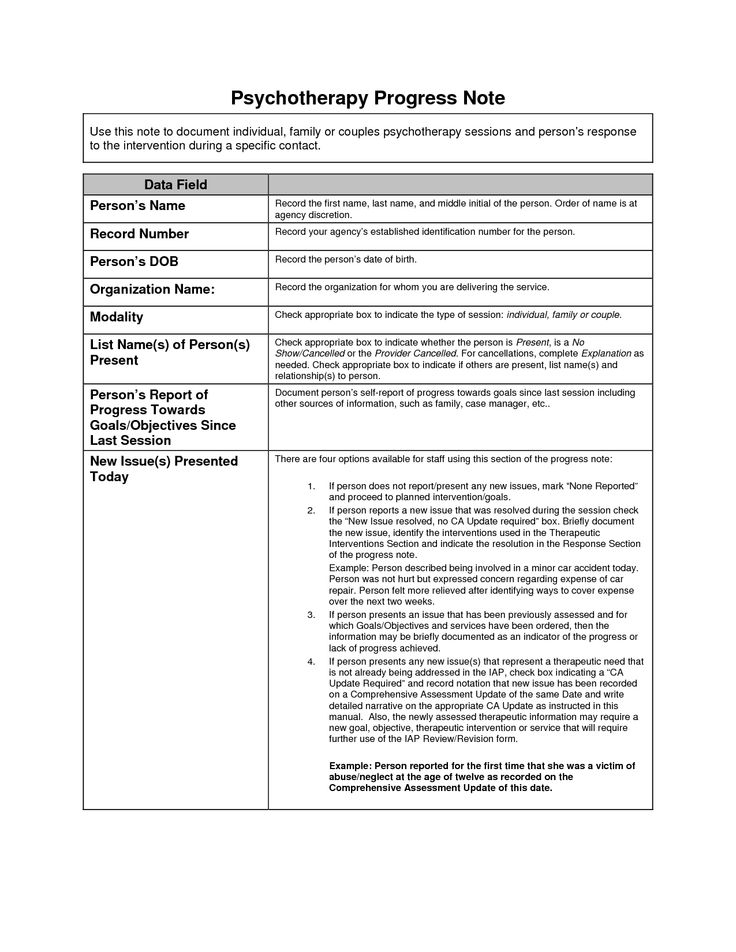 Therapy Notes Template Group Therapy Note Template Occupational