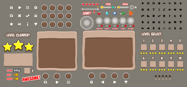 Game User Interface Templates Vector | Premium Download