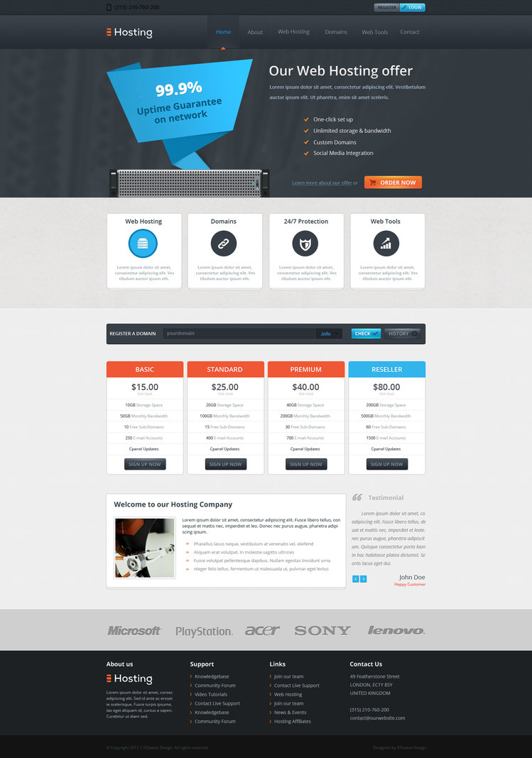 Web Hosting Template by ICEwaveGfx on DeviantArt