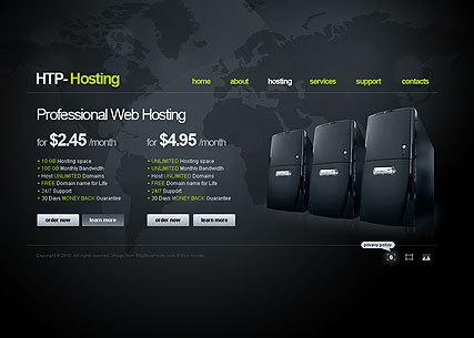 Web Hosting flash website template | Best Website Templates