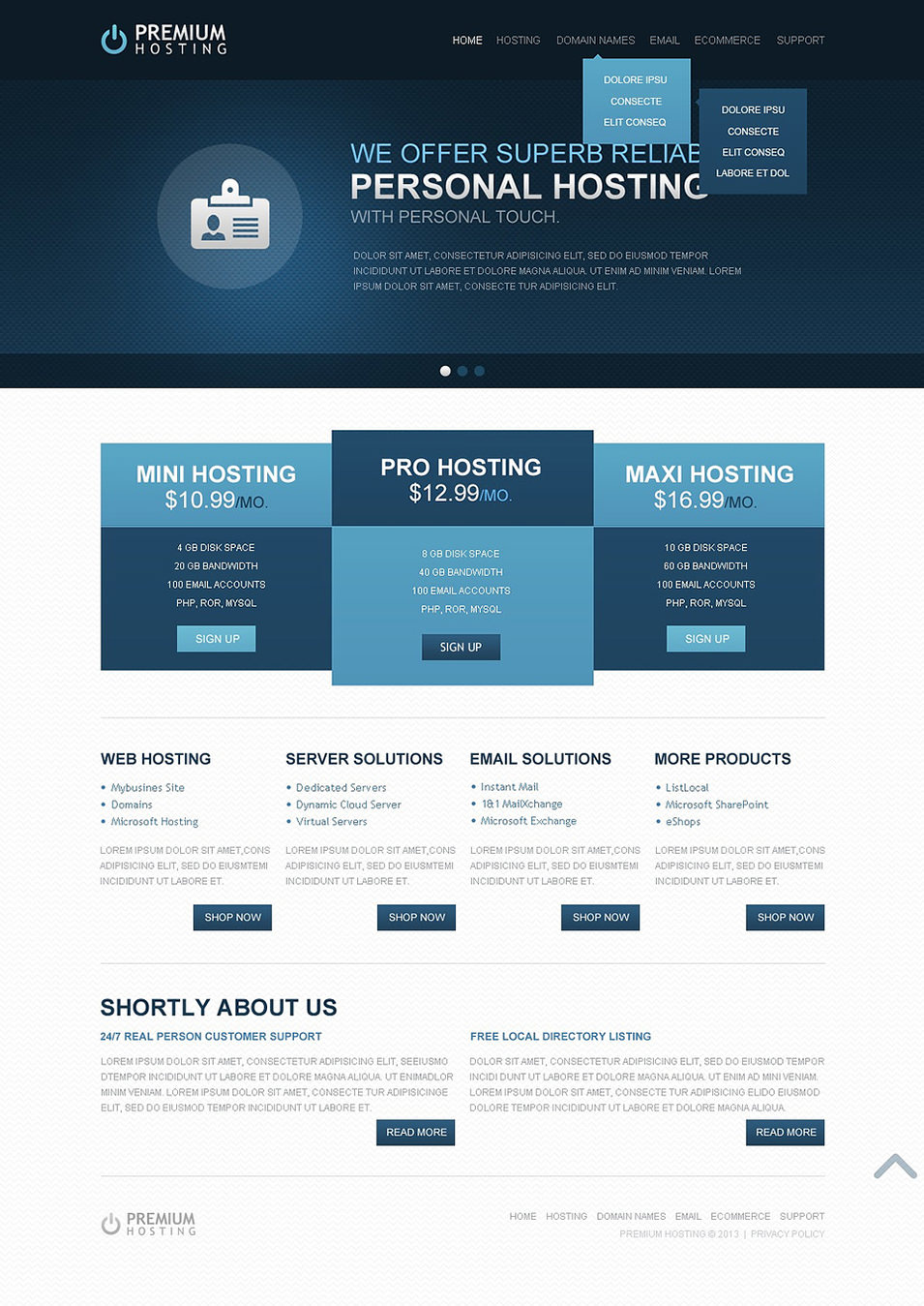 39 Best Web Hosting Website Templates & Themes | Free & Premium