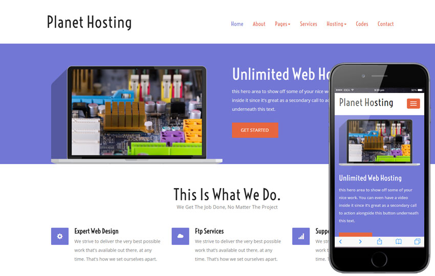 Free Web Hosting domain sales mobile iphone and web templates