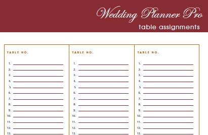 Wedding planners templates binder the planner allowed with budget