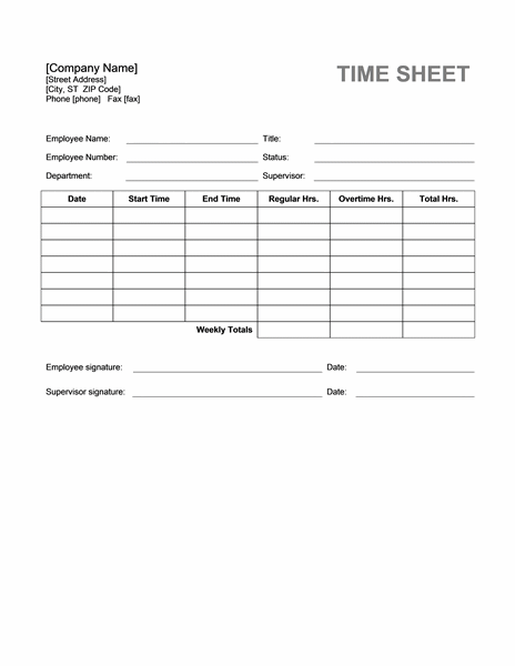 27+ MS Word Timesheet Templates Free Download | Free & Premium