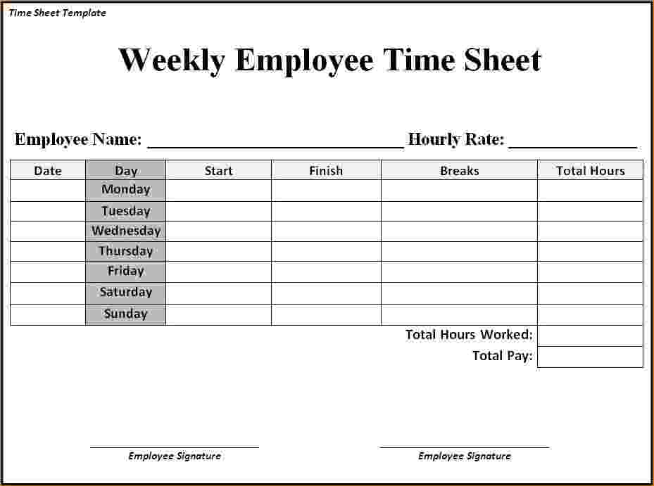 Weekly timesheet template project task form present more – muboo.info