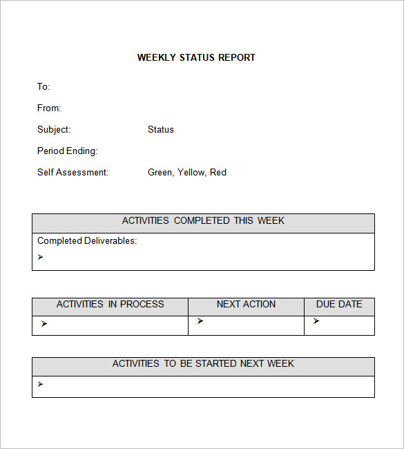 7 weekly update template | Receipt Templates