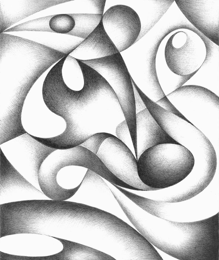 Image of 'unusual abstract pencil drawing' on Colourbox