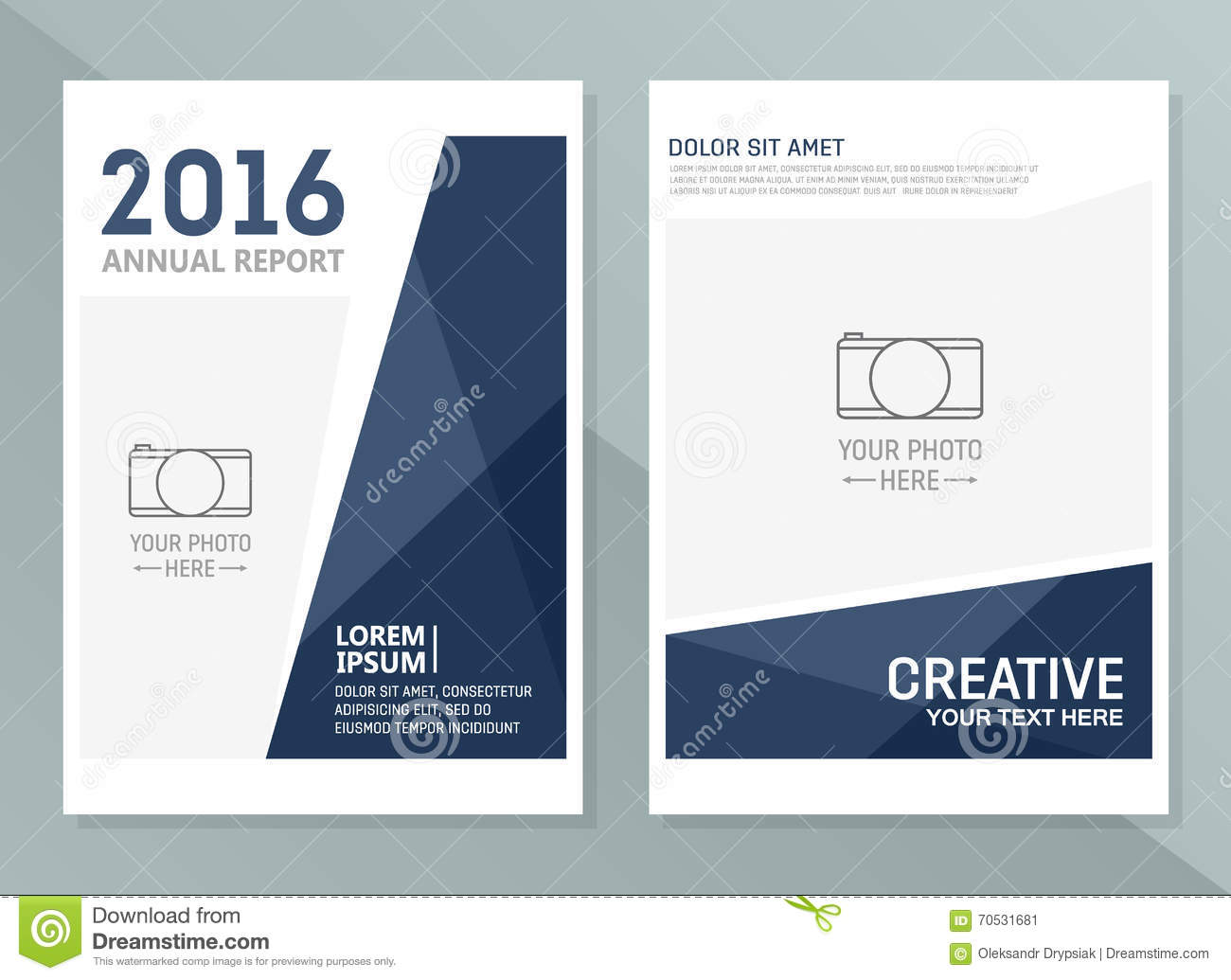 Vector annual report design templates. Business brochure, flyer