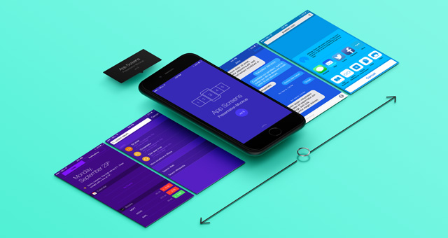 Free Readymade Mobile App Design Presentation Mockup PSD   Good