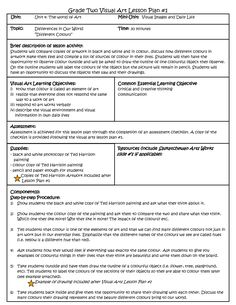 Lesson Plan Template For Arts   ART EDUCATION ESSENTIALS