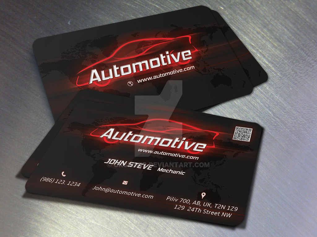 Automotive Business Card by Oksrider on DeviantArt