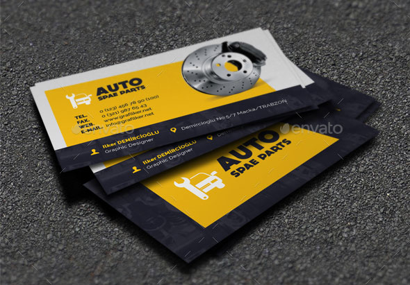 20 Best Automotive Business Card Design Templates | Pixel Curse