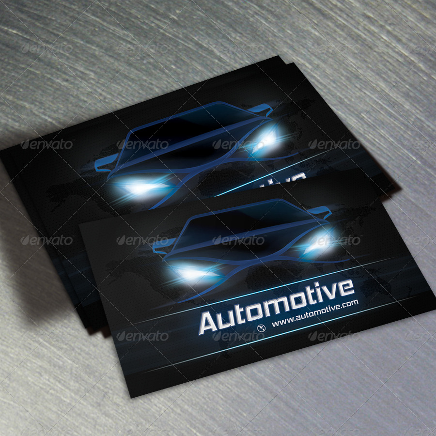 Automotive Business Card Template Free Cards Teamics Tk