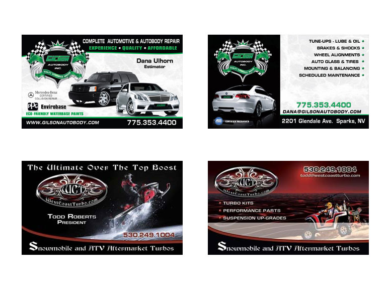 Automotive Business Cards (4) – Card Design Ideas