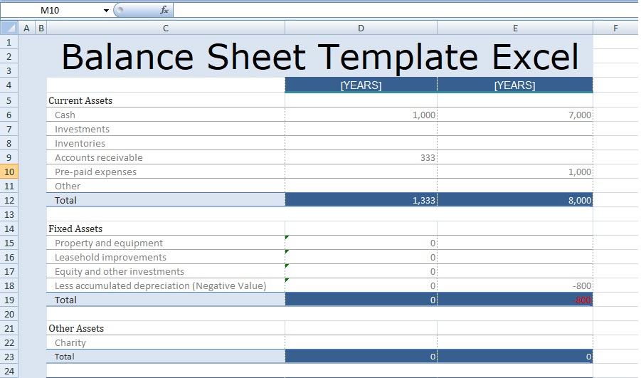 Balance Sheet Template Excel Balance Sheet Template In Excel   JP