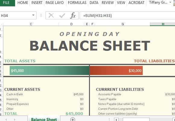 Download Simple Balance Sheet Template   Microsoft Excel wikiDownload