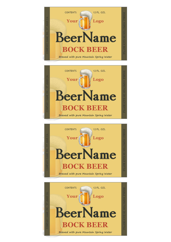 Beer label template | Make your own beer labels
