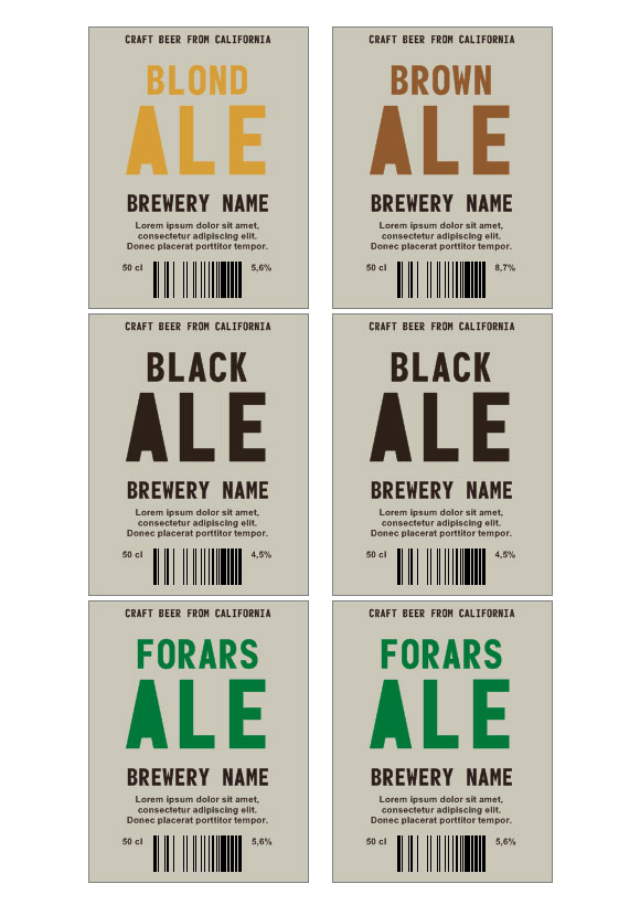 6 Sample Beer Label Templates to Download | Sample Templates