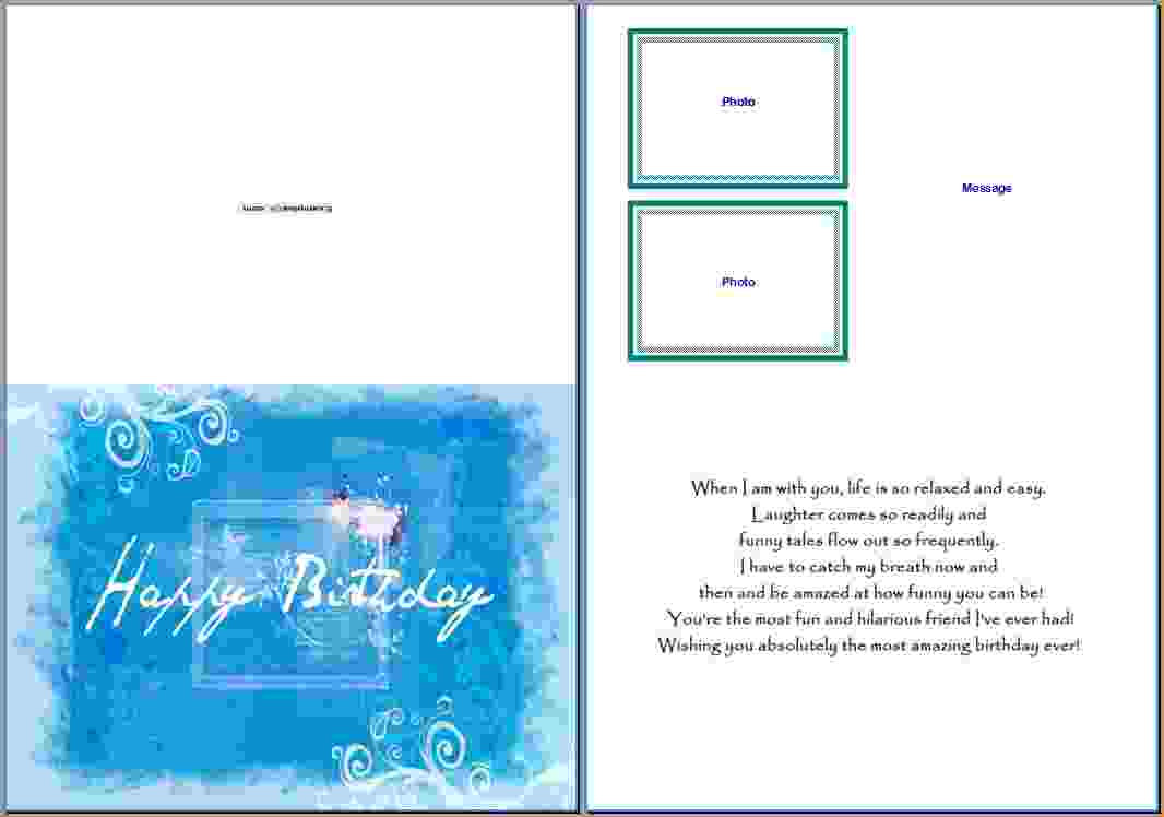 word for birthday cards