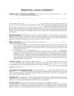 Best Photos of Blank Residential Lease Agreement Forms   Blank