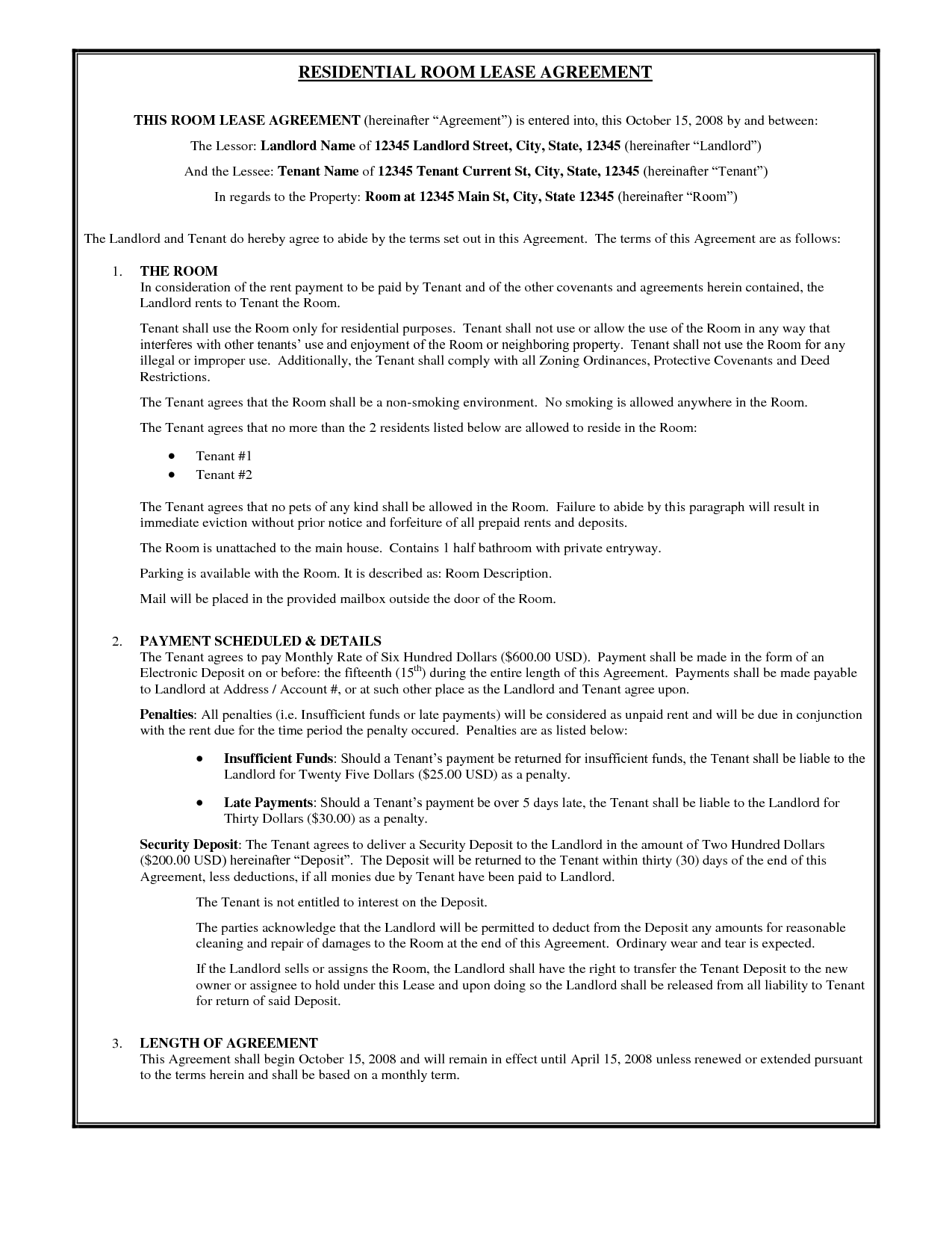 Lf310 Residential Lease   Fill Online, Printable, Fillable, Blank