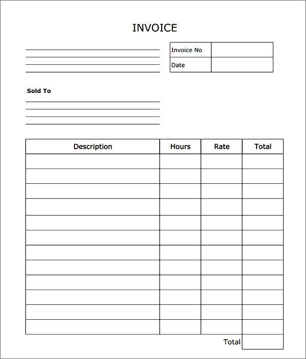 Blank Invoice Blank Invoice Form Free Printable Invoice Template