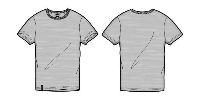 Blank front and back t shirt design template set Vector Image