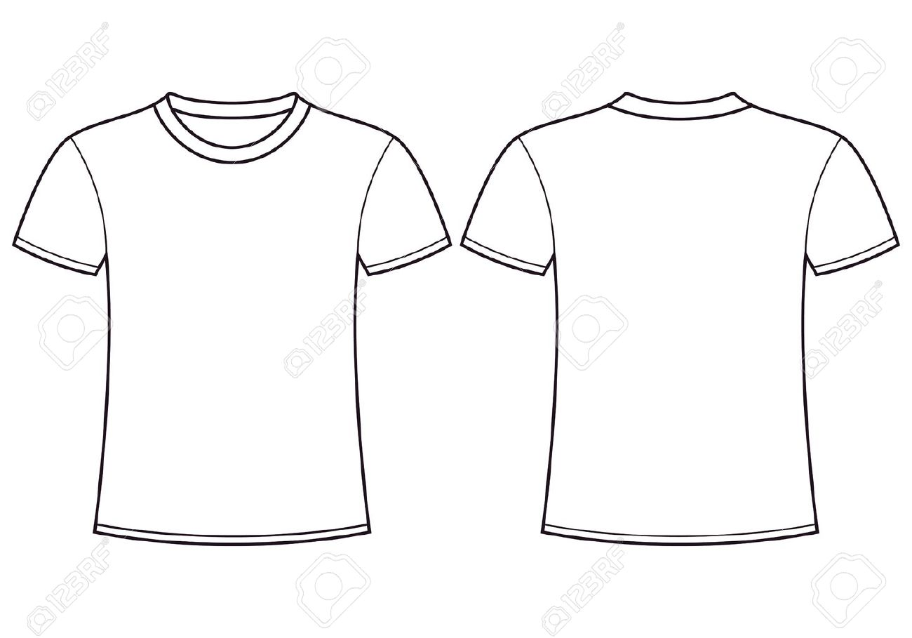 Blank T shirt Template Front And Back Royalty Free Cliparts